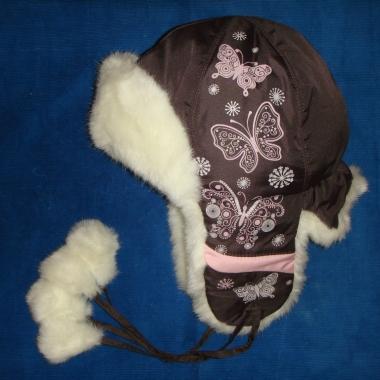 шапка ушанка коричневая
