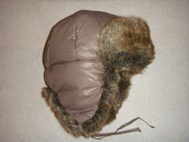 шапка ушанка бежевая
