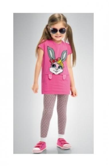 комплект розовый с зайцем