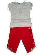 Комплект футболка+красные шорты