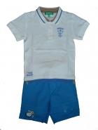 Комплект поло+голубые шорты