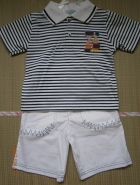 Детский комплект отдежды для мальчика синий в полосочку
